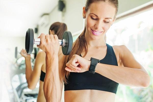 トレーニング,女性,腕時計