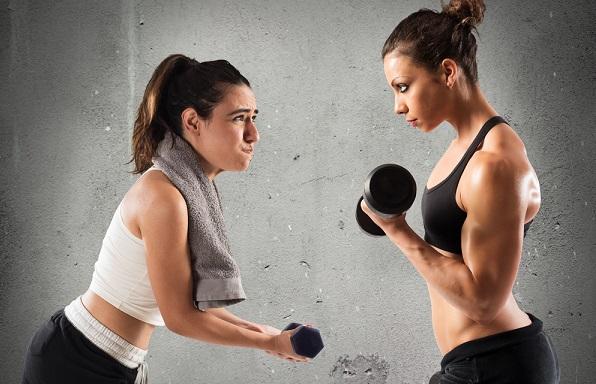 トレーニング女性比較